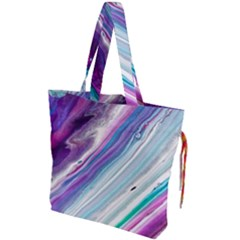Color Acrylic Paint Art Painting Drawstring Tote Bag
