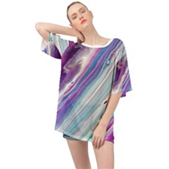 Color Acrylic Paint Art Painting Oversized Chiffon Top