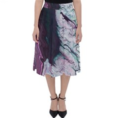 Color Acrylic Paint Art Painting Classic Midi Skirt