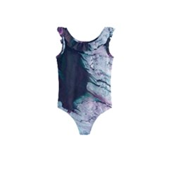 Color Acrylic Paint Art Painting Kids  Frill Swimsuit by Pakrebo
