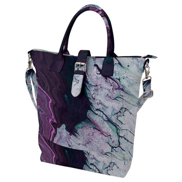Color Acrylic Paint Art Painting Buckle Top Tote Bag