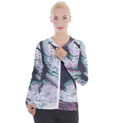 Color Acrylic Paint Art Painting Casual Zip Up Jacket by Pakrebo