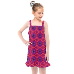Retro Abstract Boho Unique Kids  Overall Dress