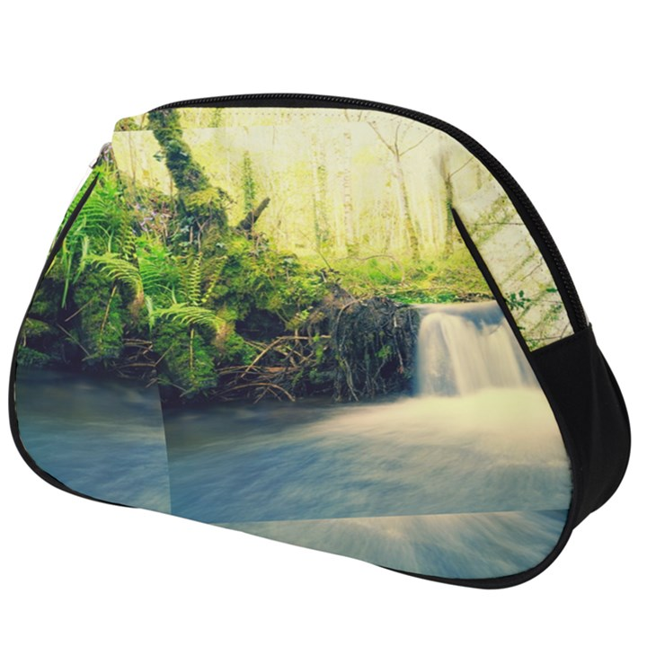 Waterfall River Nature Forest Full Print Accessory Pouch (Big)