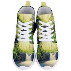 Waterfall River Nature Forest Women s Lightweight High Top Sneakers