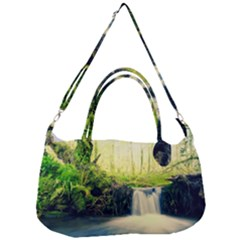 Waterfall River Nature Forest Removal Strap Handbag