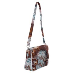 Paint Acrylic Paint Art Colorful Shoulder Bag With Back Zipper
