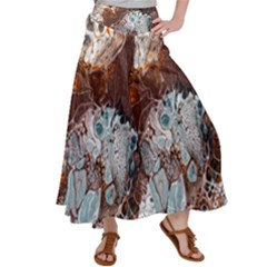 Paint Acrylic Paint Art Colorful Satin Palazzo Pants