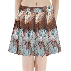 Paint Acrylic Paint Art Colorful Pleated Mini Skirt