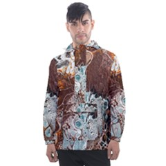 Paint Acrylic Paint Art Colorful Men s Front Pocket Pullover Windbreaker