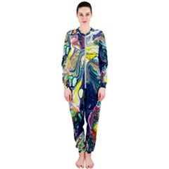 Paint Acrylic Paint Art Colorful Onepiece Jumpsuit (ladies)