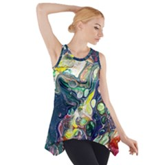 Paint Acrylic Paint Art Colorful Side Drop Tank Tunic