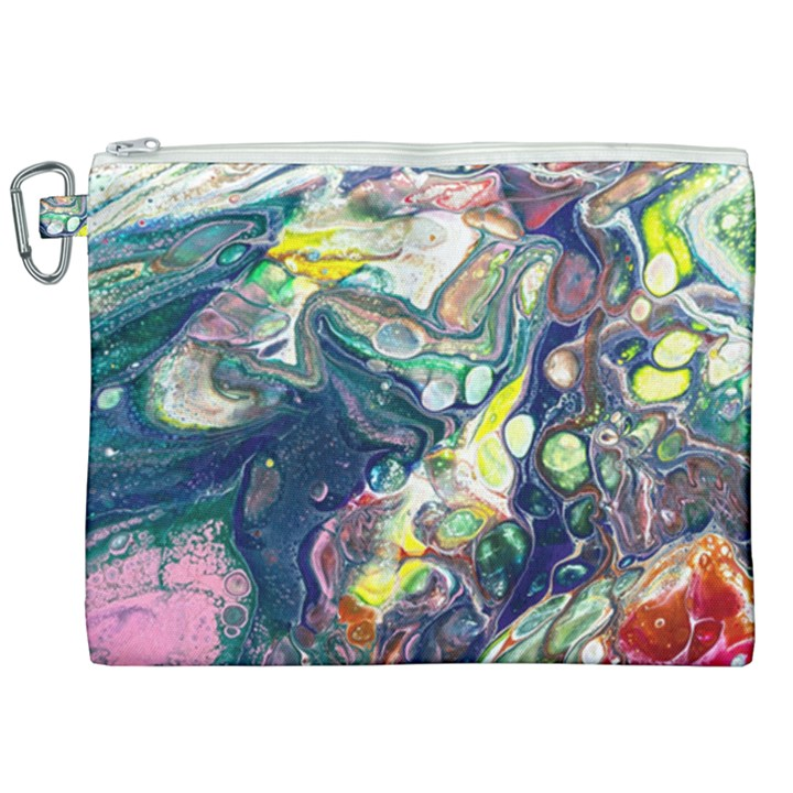 Paint Acrylic Paint Art Colorful Canvas Cosmetic Bag (XXL)