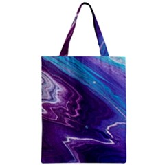 Color Acrylic Paint Art Painting Art Zipper Classic Tote Bag