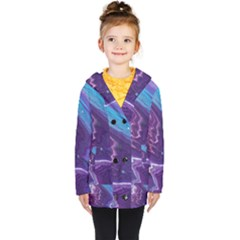 Color Acrylic Paint Art Painting Art Kids  Double Breasted Button Coat by Pakrebo