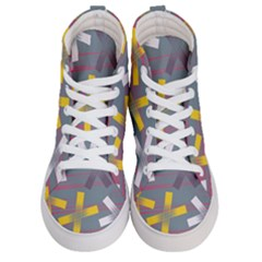 Background Abstract Non Seamless Women s Hi Top Skate Sneakers