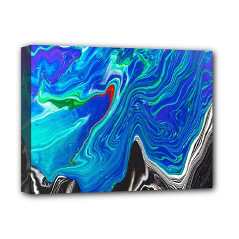Paint Acrylic Paint Art Colorful Blue Deluxe Canvas 16  X 12  (stretched)