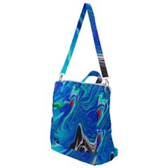 Paint Acrylic Paint Art Colorful Blue Crossbody Backpack by Pakrebo