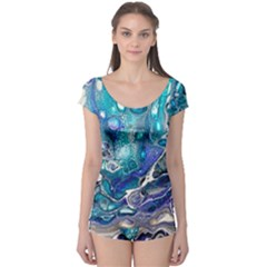 Paint Acrylic Paint Art Colorful Boyleg Leotard  by Pakrebo