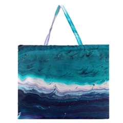Color Acrylic Paint Art Painting Zipper Large Tote Bag by Pakrebo
