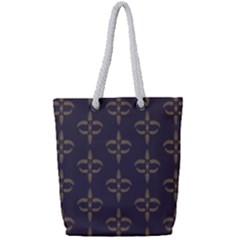 Background Non Seamless Pattern Full Print Rope Handle Tote (small)