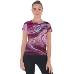 Paint Acrylic Paint Art Colorful Short Sleeve Sports Top