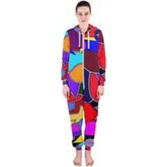 Crazycolorabstract Hooded Jumpsuit (ladies)
