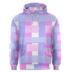 Gingham Checkered Texture Pattern Men s Pullover Hoodie