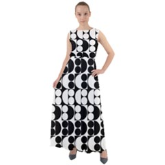 Seamless Pattern Wallpaper Chiffon Mesh Maxi Dress