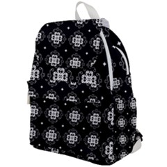 Ornament Flowers Seamless Geometric Top Flap Backpack