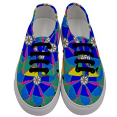 Mandala Wheel Pattern Ornament Men s Classic Low Top Sneakers