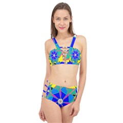 Mandala Wheel Pattern Ornament Cage Up Bikini Set