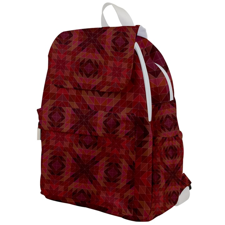 Maroon Triangle Pattern Seamless Top Flap Backpack