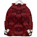Maroon Triangle Pattern Seamless Top Flap Backpack View3
