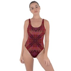 Maroon Triangle Pattern Seamless Bring Sexy Back Swimsuit
