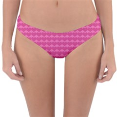 Abstract Background Card Decoration Pink Reversible Hipster Bikini Bottoms