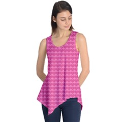 Abstract Background Card Decoration Pink Sleeveless Tunic