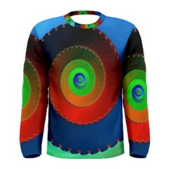 Fractal Spiral Curve Helix Men s Long Sleeve Tee by Pakrebo