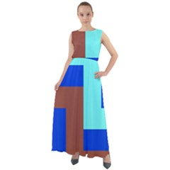 Abstract Background Abstraction Chiffon Mesh Maxi Dress