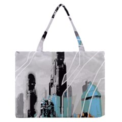 The City Of The Future Collage Zipper Medium Tote Bag by Pakrebo