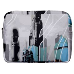 The City Of The Future Collage Make Up Pouch (large)