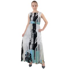 The City Of The Future Collage Chiffon Mesh Maxi Dress