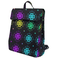 Seamless Pattern Design Ornament Flap Top Backpack