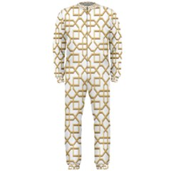 Graphic Mughal Pattern Jali Jaali Onepiece Jumpsuit (men)