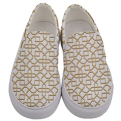 Graphic Mughal Pattern Jali Jaali Men s Canvas Slip Ons