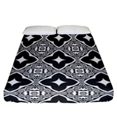 Seamless Pattern Ornament Fitted Sheet (california King Size)