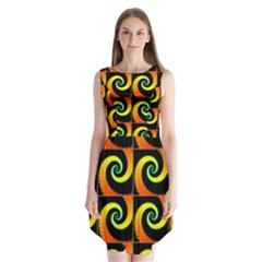 Spiral Seamless Pattern Fractal Sleeveless Chiffon Dress   by Pakrebo