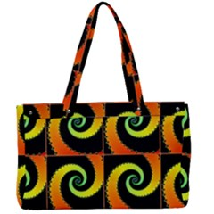 Spiral Seamless Pattern Fractal Canvas Work Bag
