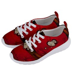 Beautiful Elegant Hearts With Roses Women s Lightweight Sports Shoes by FantasyWorld7