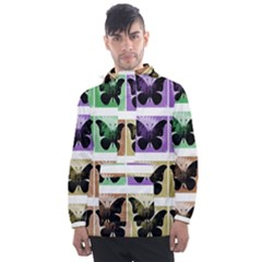 Seamless Wallpaper Butterfly Men s Front Pocket Pullover Windbreaker